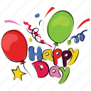 anniversary, happy day, birthday, occasion, happy christmas, event, happiness icon