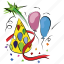 balloons, birthday, celebrations, party icon