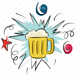 ale, beer, beverage, chilled beer, drink, mug, party icon