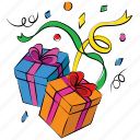 gifts, new year, gift, presents, boxes, happy christmas, packages icon