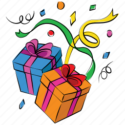 boxes, gift, gifts, happy christmas, new year, packages, presents icon