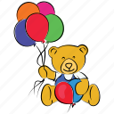 bear, birthday, celebration, happy christmas, party, teddy bear icon