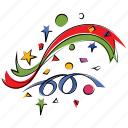 congratulations, explosion, anniversary, decoration, firework, confetti, happiness icon