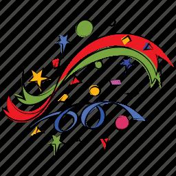 anniversary, confetti, congratulations, decoration, explosion, firework, happiness icon