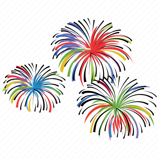 Birthday, celebrate, event, explosion, firecracker ...Fireworks Icon Image