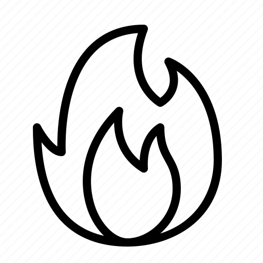 bonfire, camp, campfire, camping, ios, outdoor, survival icon