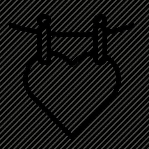 heart, ios, line, love, romance, valentine, valentines icon