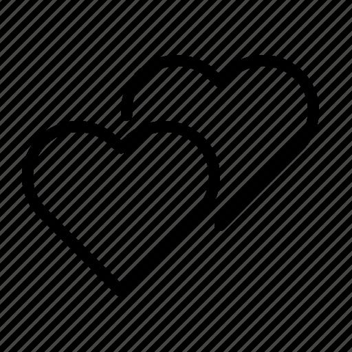 hearts, ios, love, romance, valentine, valentine's, valentines icon
