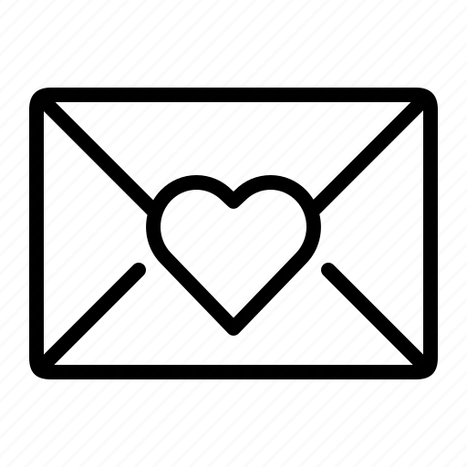envelope, heart, ios, letter, love, romantic, valentine icon