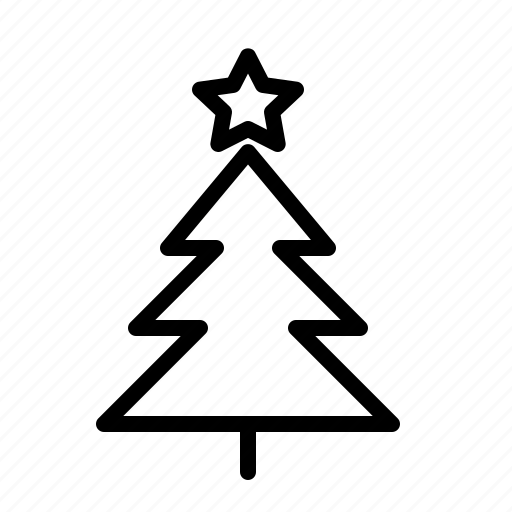 christmas, decoration, holiday, ios, star, tree, xmas icon