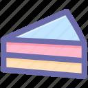 bakery food, cake piece, dessert, frozen dessert, sweet food icon