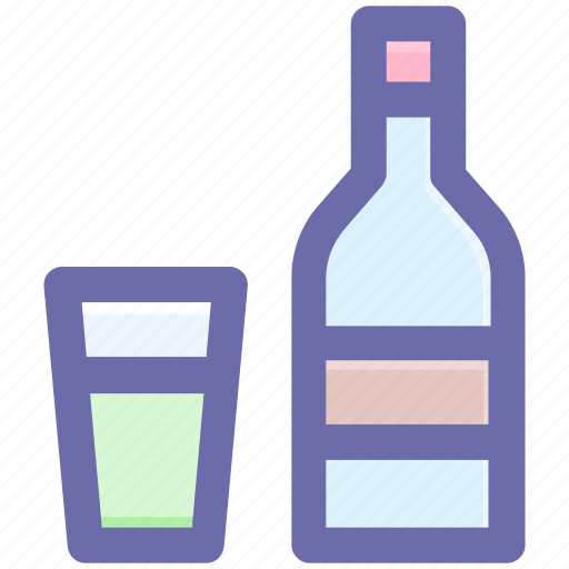 alcohol, alcoholic drink, beer bottle, glass, wine, wine bottle icon
