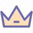 crown, headgear, king, prince, queen, royal icon