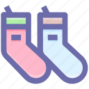 baby socks, bike socks, clothes, socks, winter, woolen icon