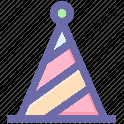 birthday, cap, cone hat, decoration, hat, party hat icon