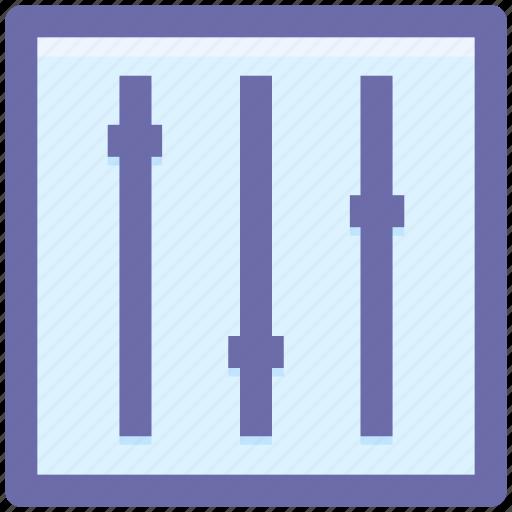equalizer, music, options, setting, sound, sound setting icon