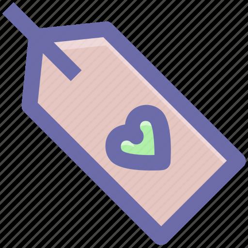 celebration, gift, heart, love, tag, wedding icon
