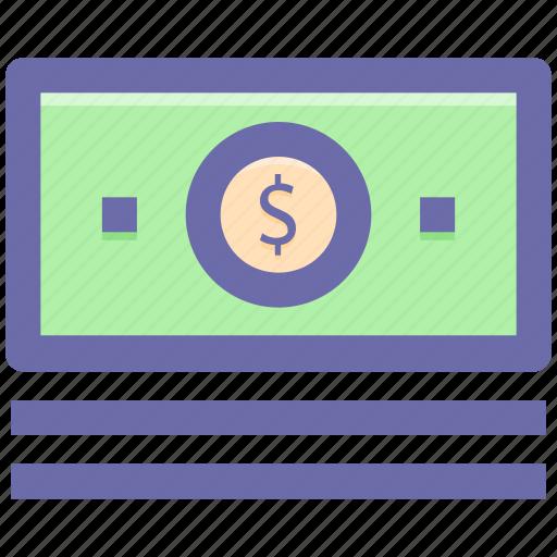 cash, cash flow, dollars, money, payment icon