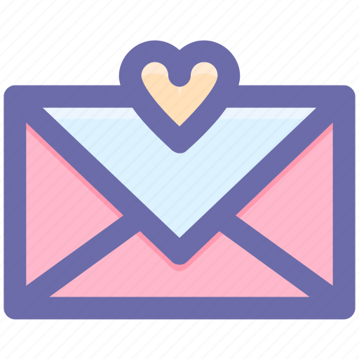 Heart, favorite, email, love message, favorite email, message icon