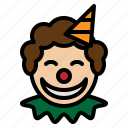 circus, clown, funny, joker, party icon