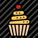 bakery, birthday, cupcake, dessert, muffin icon