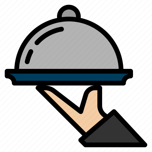 dinner, dish, food, service, tray icon