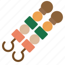 barbecue, brochette, food, grill, skewer icon