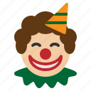 circus, clown, funny, joker, party icon