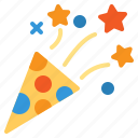 birthday, confetti, celebrate, party, festival icon
