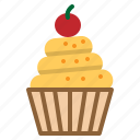 bakery, birthday, cupcake, dessert, muffin icon