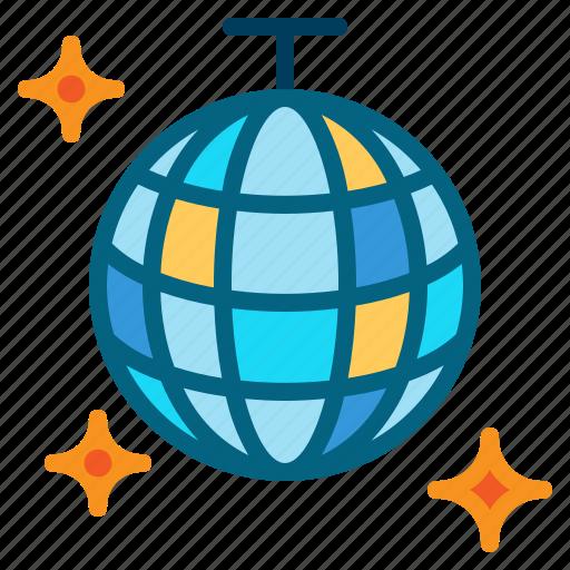 ball, dance, disco, mirror, party icon