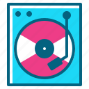 cd, disk, dj, music, player icon