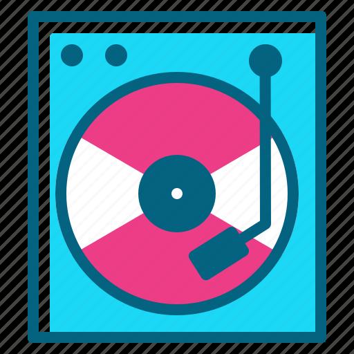 cd, disk, dj, music, player icon