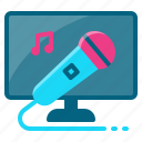 karaoke, music, party, sing, song icon