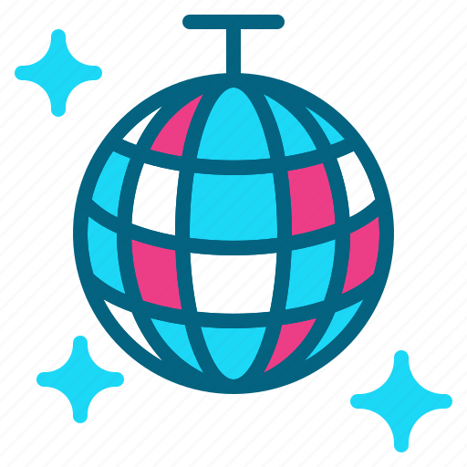 ball, dance, disco, mirror, party icon