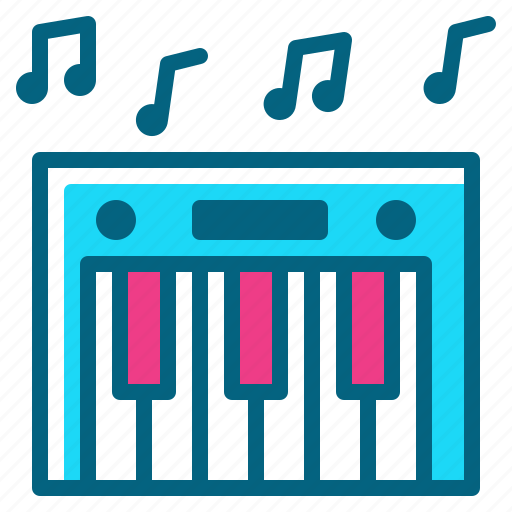 instrument, keyboard, music, piano, sound icon