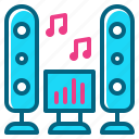 dance, music, party, sound, speaker icon