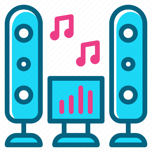 dance, music, party, sound, speaker icon
