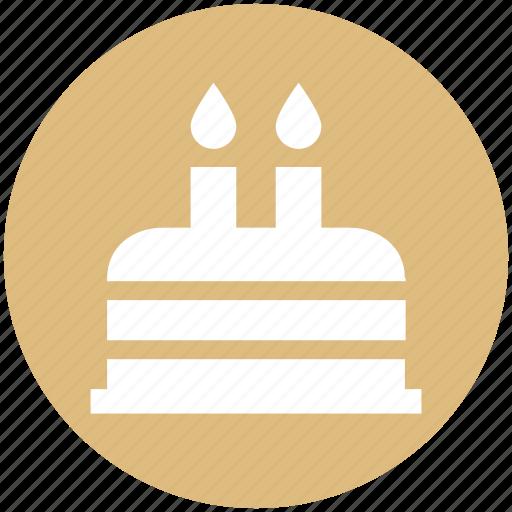 birthday cake, cake, cake with candle, dessert, sweet icon