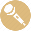 mic, microphone, music, music notes, singing, speak icon