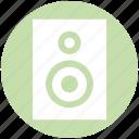 music system, speaker, speaker box, subwoofer, woofer icon