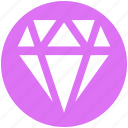 crystal, diamond, gem, gemstone, jewelry icon