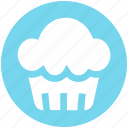bakery, cupcake, dessert, fairy cake, food, muffin icon