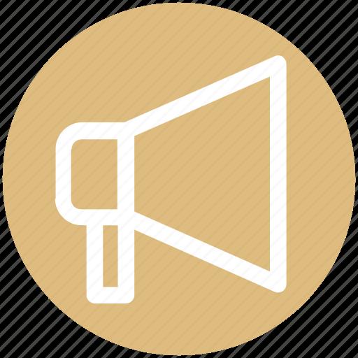 Announcement, loud, loudspeaker, megaphone, multimedia, sound, speaker icon - Download on Iconfinder