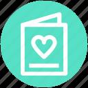 bookmark, card, heart, invitation card, love card