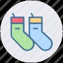 baby socks, bike socks, clothes, socks, winter, woolen icon