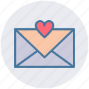 email, envelope, favorite, favorite email, heart, love message, message icon