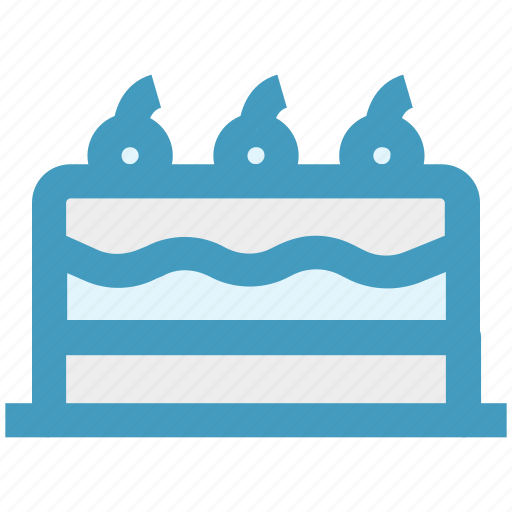 birthday cake, cake, cake with candles, dessert, party cake, sweet icon