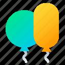 balloons, balls, birthday, decoration