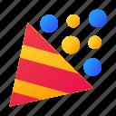 cone, firecracker, party, popper